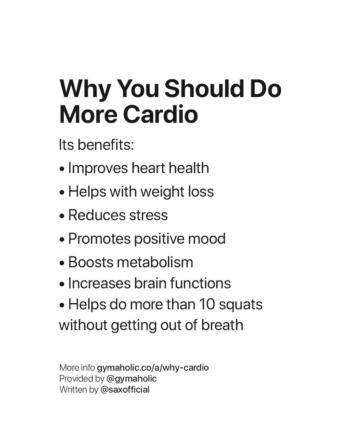 Why you should do more cardio