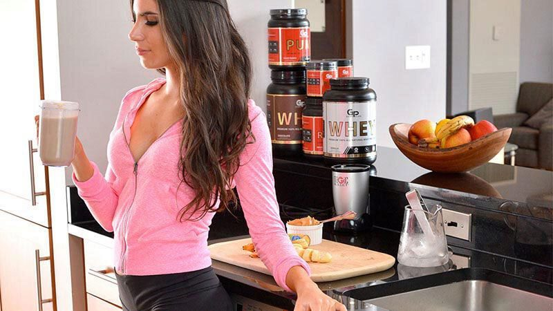 Jenselter with protein shake