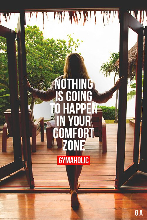 going out of your comfort zone Breaking out of your comfort zone  make to jump straight out of our comfort zone think of your number 1 activity  from going outside of your comfort zone.