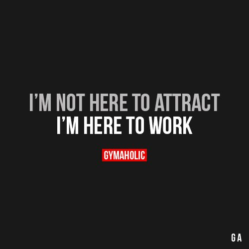 I'm Not Here To Attract