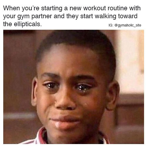 When You're Starting A New Workout Routine