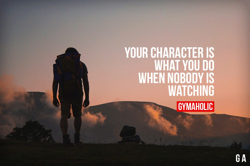 You Character Is What You Do