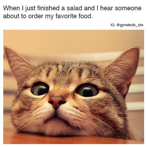 When I Just Finished A Salad