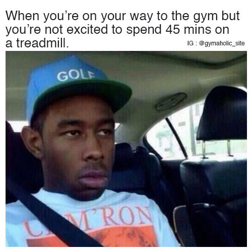 When You're On Your Way To The Gym