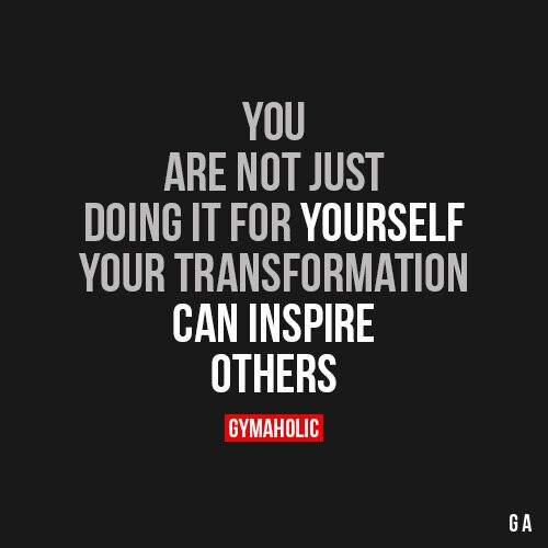 You Are Not Just Doing It For Yourself