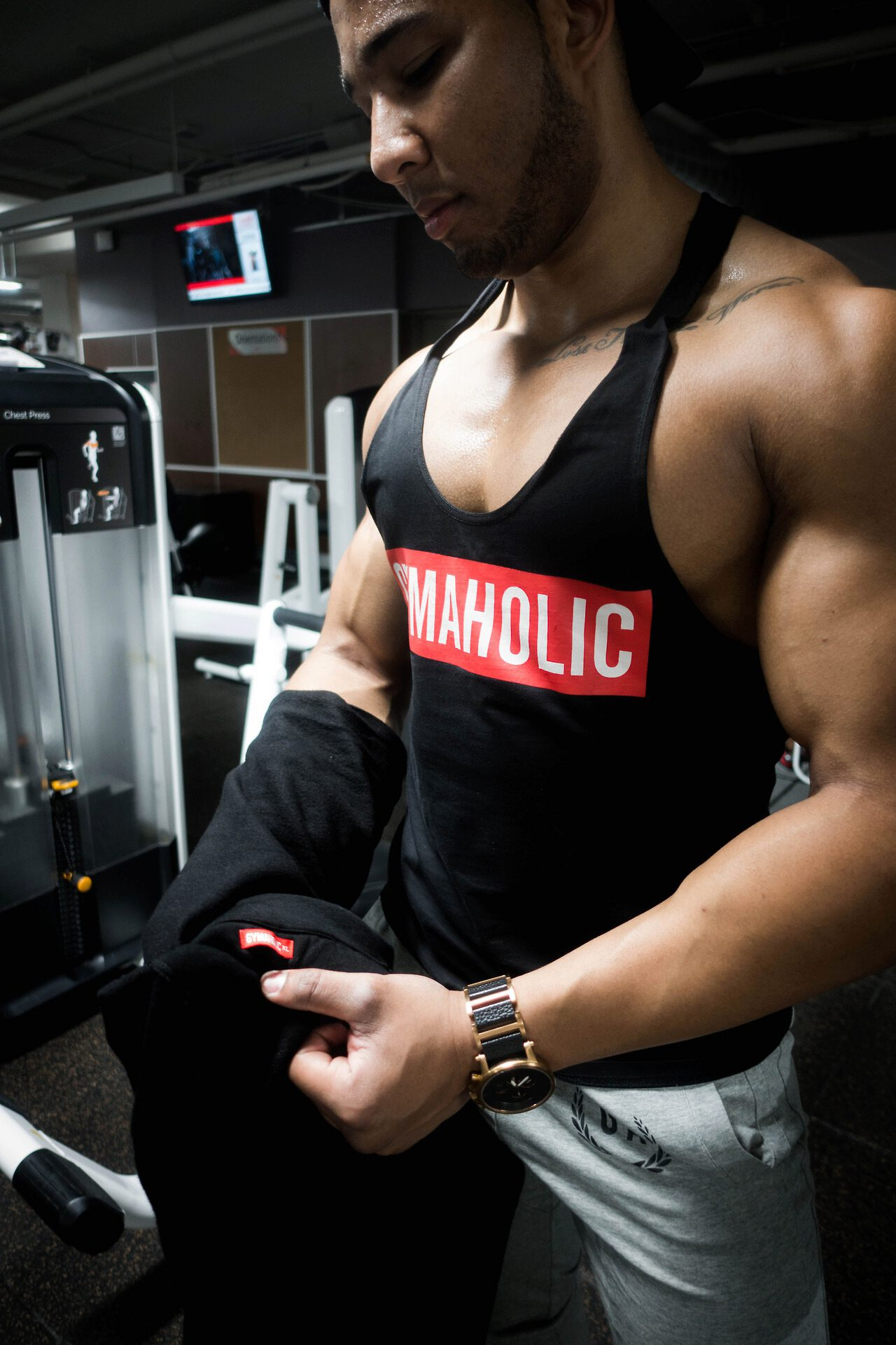 Proud to be a Gymaholic. Always working on becoming a better version of myself. #IAmAGymaholic
