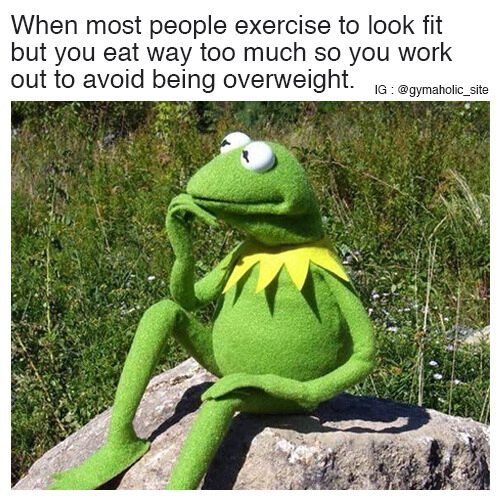 When Most People Exercise To Look Fit