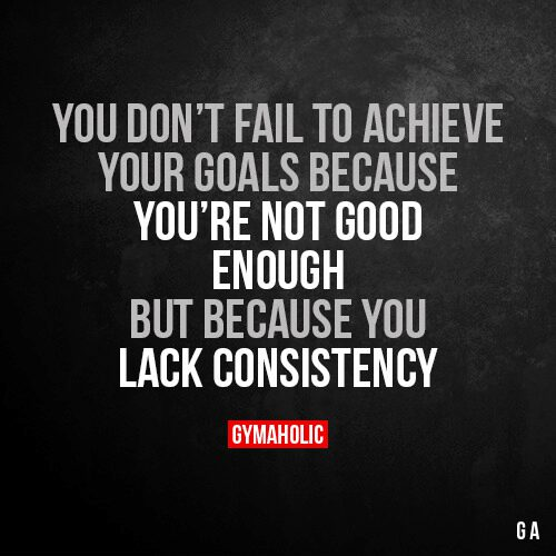 You Don't Fail To Achieve Your Goals Because You're Not Good Enough