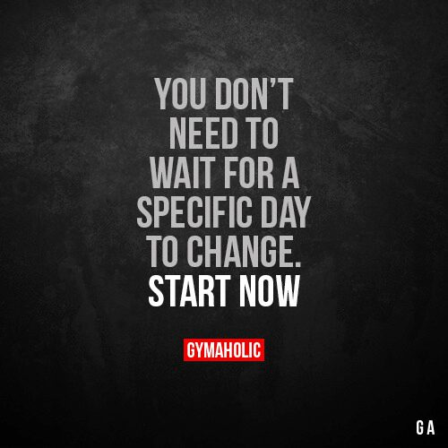 You don't need to wait for a specific day to change