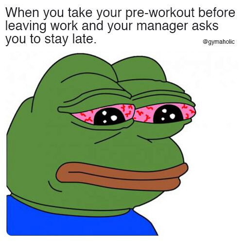 When you take your pre-workout