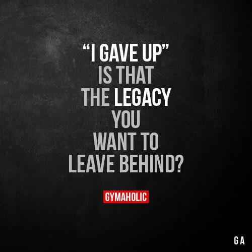 """""""I gave up"""""""