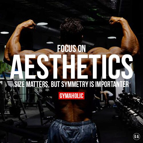 Focus on AESTHETICS.