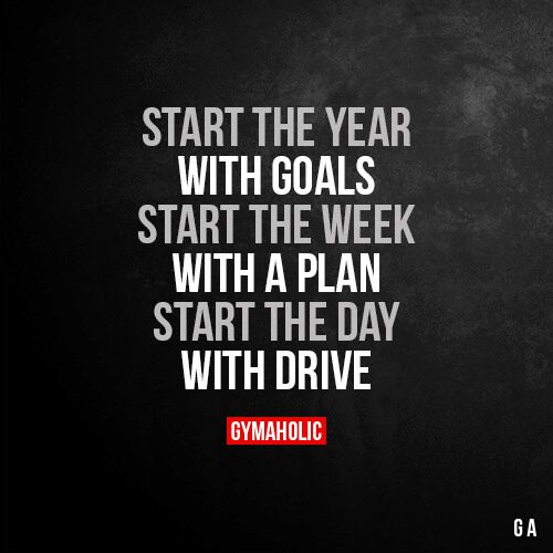 Start the year with goals