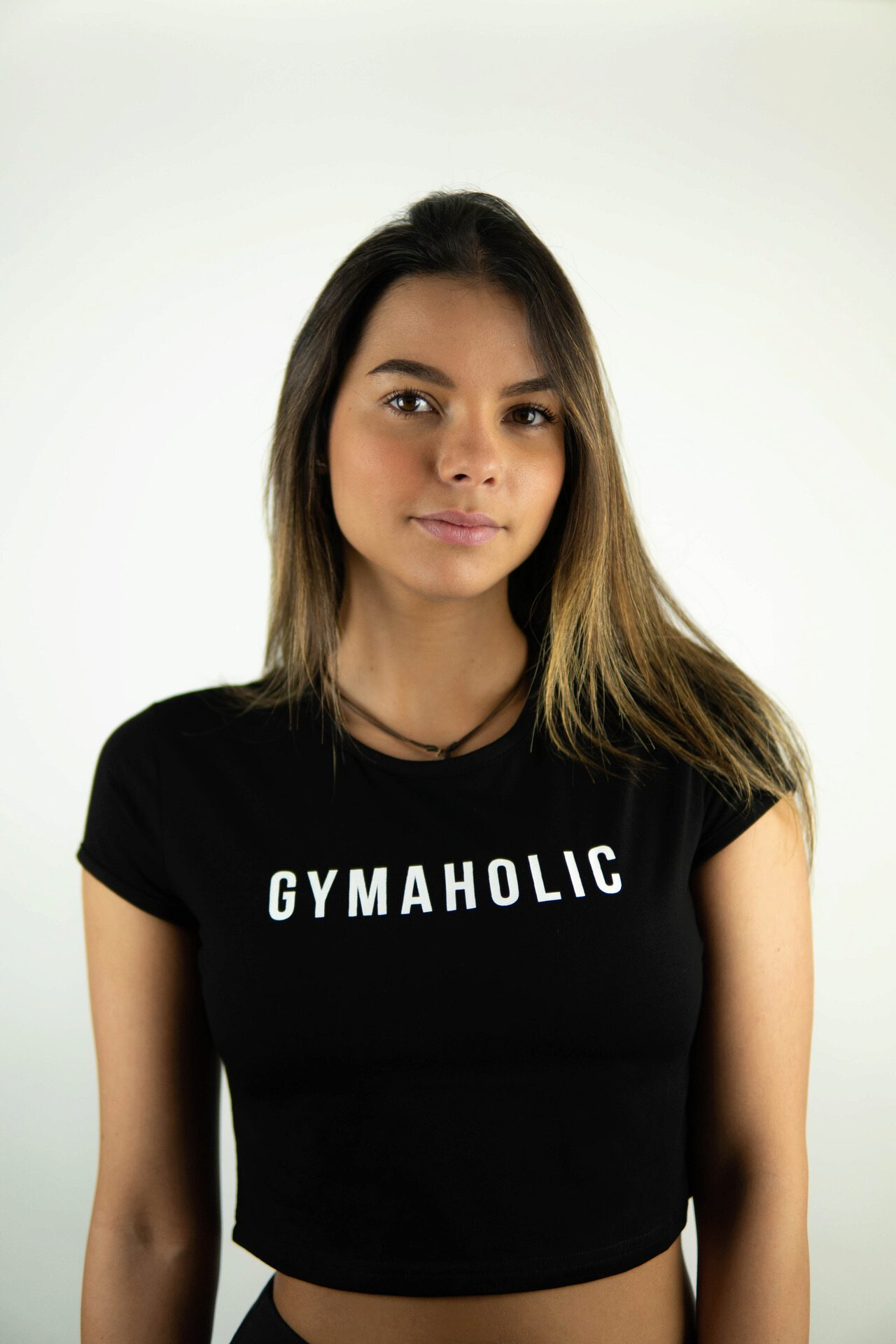 The Gymaholic Signature Crop Top was designed to help you exercise without any restrictions. You will quickly notice how comfortable and confident it will make you feel: