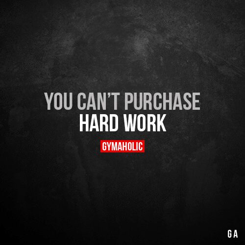You can't purchase hard work.