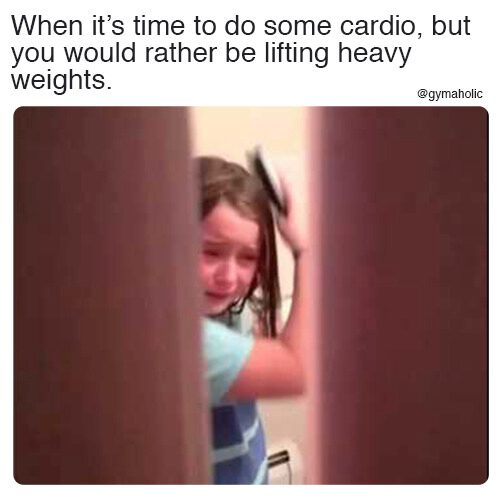 When it's time to do some cardio