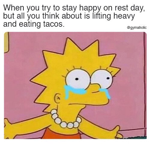 When you try to stay happy on rest day
