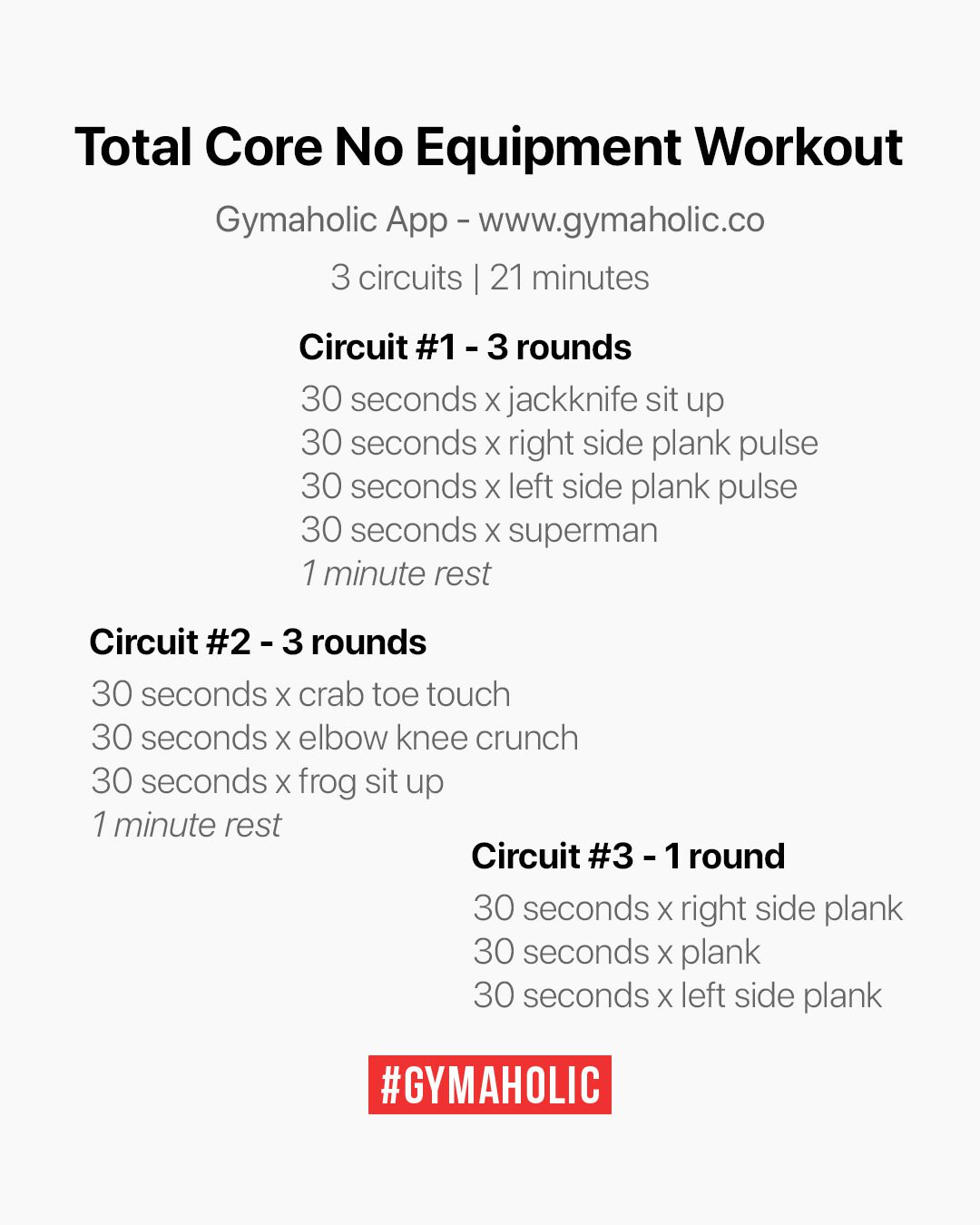 Total Core No Equipment Workout